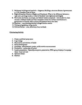 Grade Five Canadian Government Unit