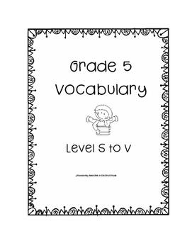 Grade Five Leveled Reading Vocabulary