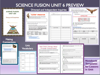 Grade Five Science Fusion Unit 6 Notebook Template