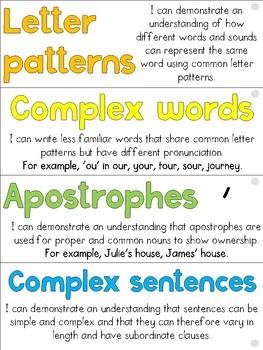 Grade Five Writing Goals Display