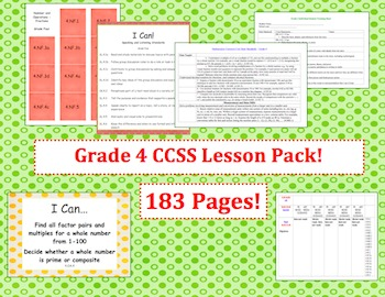Grade Four Common Core Lesson Pack - Designer Dots