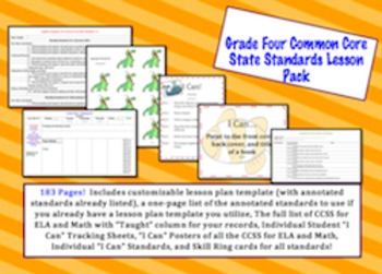 Grade Four Common Core Lesson Pack