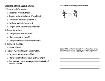 Grade Four Math Module 5 Written Expression Foldable