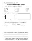 Grade Four Multiplication Quiz
