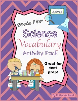 Science Vocabulary Review Packet for Grade Four