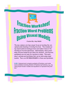 Grade Fraction - Fraction Division Word Problems(w/ Answer