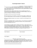 Grade Improvement Contract