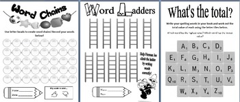 Literacy Centre 48 Word Work Printable Activities - Grade 1-6 for any word list!