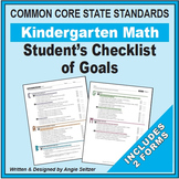 Grade K Kindergarten 2-Page Checklist of Math Goals for CCSS