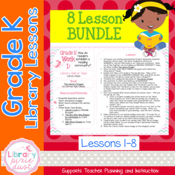 Gr. K: 8 Lessons (Book Care, Pattern Books, Legos & Retelling, Print Concepts)