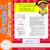 Gr. K: 8 Lessons (Book Care, Pattern Books, Legos & Retell
