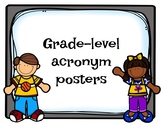 Grade Level Acronym Posters