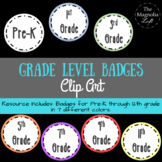 Grade Level Badges Clip Art