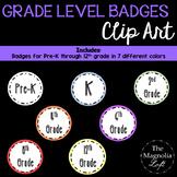 Grade Level Badges Clip Art