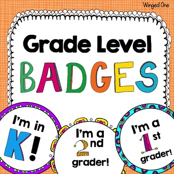 Grade Level Badges or Necklaces