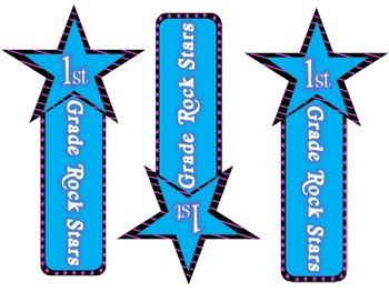 Grade Level Bookmarks - Rock Star