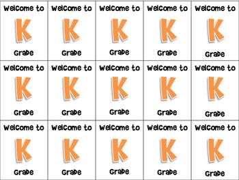 Grade Level Brag Tags