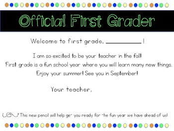 Grade Level End of Year Certificates