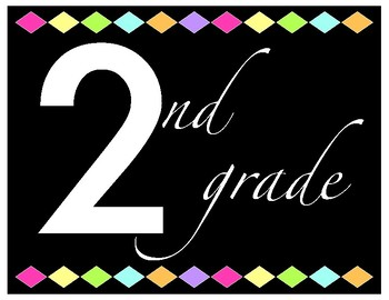 Grade Level Posters (Black and Bright)