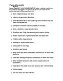 Grade Level Skills Checklist (IEP Consultation)