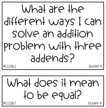 1st Grade NC Standards 2018-19 Reading, Math, Science, SS