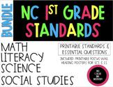 2018-19 1st Grade NC Standards & Essential Questions ELA, Math, Science, SS