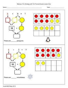 Grade One Addition Strategies 1.OA.6