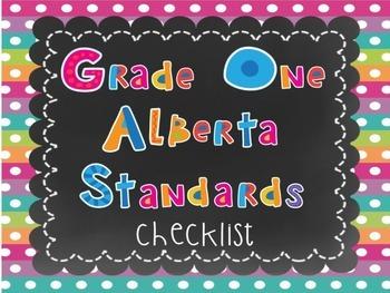 Alberta Grade One Standards Checklist