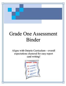 Grade One Assessment Binder