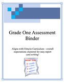Grade One Assessment Binder