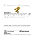 Grade One Assessment for Measurement Common Core Standards
