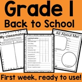 GRADE 1: Back to School MATH and LANGUAGE NO PREP packet!