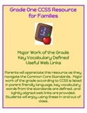 Grade One CCSS Math Resource for Families