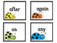 Grade One Dolch Sight Word Flashcards. Ladybug
