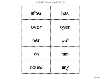 1st Grade Dolch Sight Word Game