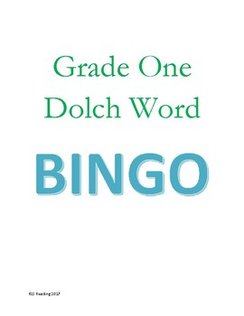 Grade One Dolch Word Bingo Game - 5 boards color coded with word cut outs