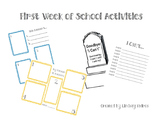 Grade One - First Week Of School Activities