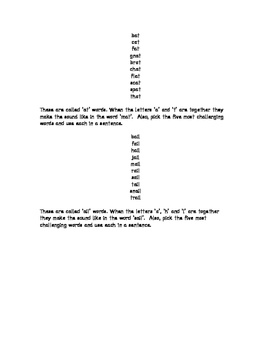 Grade One Guy Word Family Program