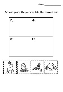 Christmas Language and Math Activities for K-1  (10 page PDF)