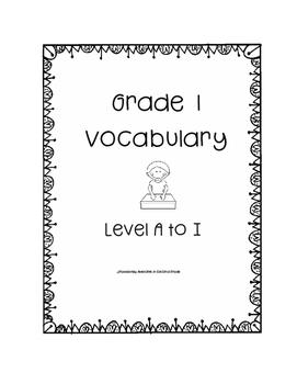 Grade One Leveled Reading Vocabulary