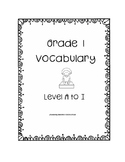 Grade One Leveled Reading Vocabulary