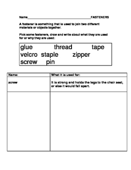 Grade One: Materials, Objects, Everyday Structures