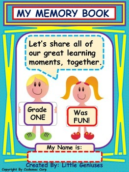 Grade One Memory Book: Year End Review