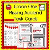 Grade One Missing Addend Task Cards