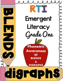 First Grade RTI - Phonemic awareness of blends/digraphs