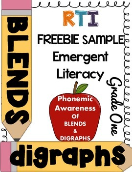 ***FREEBIE*** First Grade RTI - Phonemic awareness of blends/digraphs