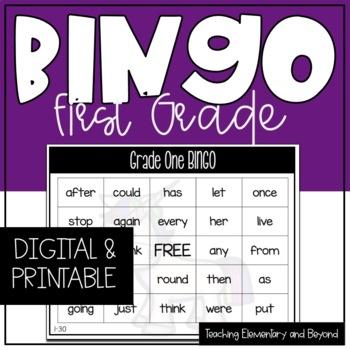 Grade One Sight Word Bingo {Class Set}