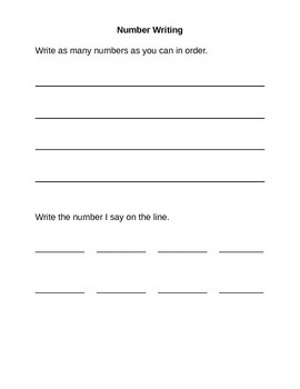 Grade One Student Math Record and Scoring Guide