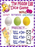 Grade One and Two Easter Math Game Using Dice