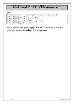 Grade R assessment Term 1
